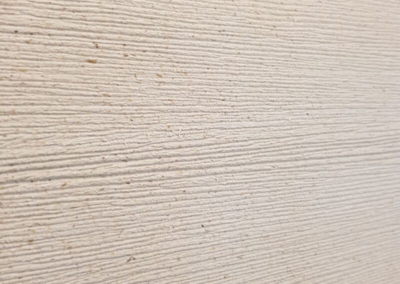Bardage bois composite beige