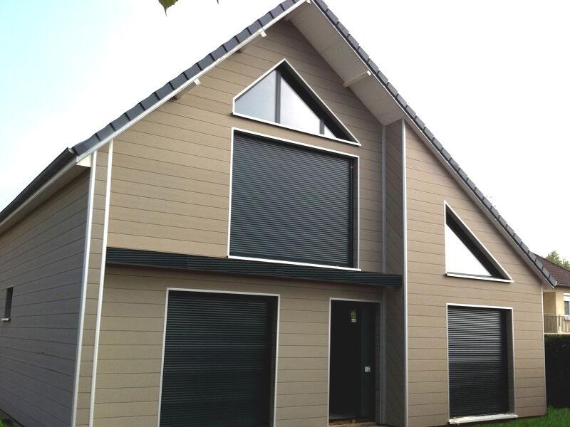Bardage maison Composite bois