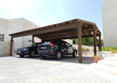 Carport Bois Composite - Crealodge