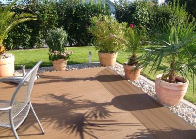 Terrasse composite effet bois