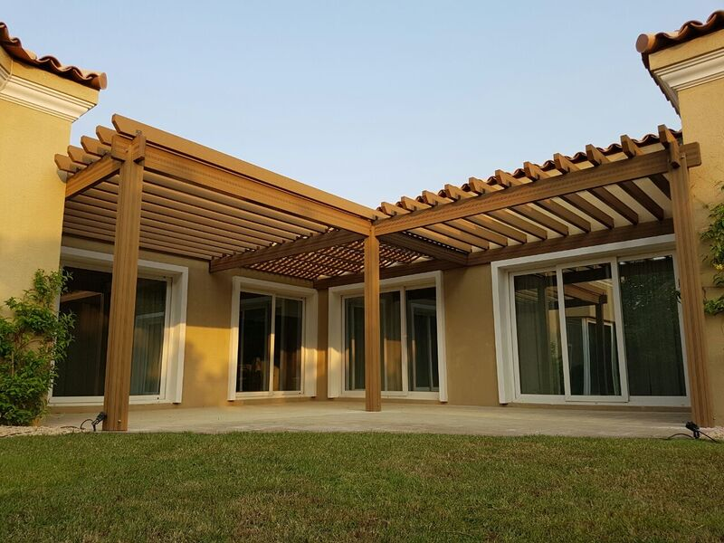 Terrasse couverte bois composite