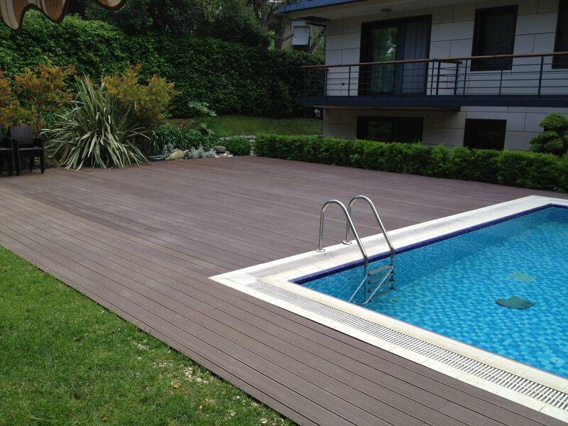 Terrasse lames bois composite